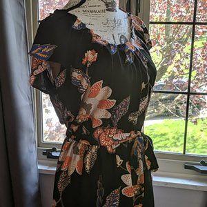 LC Lauren Conrad Floral/Paisley Print Dress